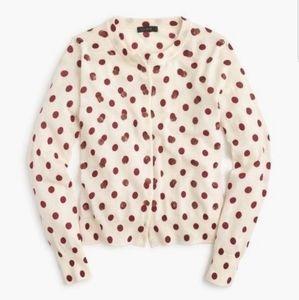 ❤❤ J. Crew polka dot sequin cardigan-S